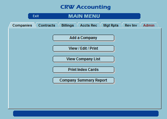 Custom menu-driven accounting system for major trans-ocean shipping broker