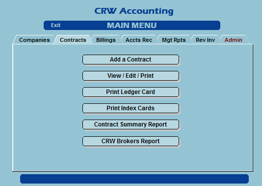 Shipping broker Contracts tab