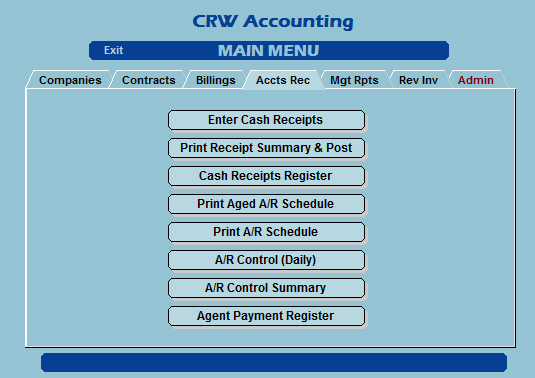 Shipping Broker Accounts Receivables tab