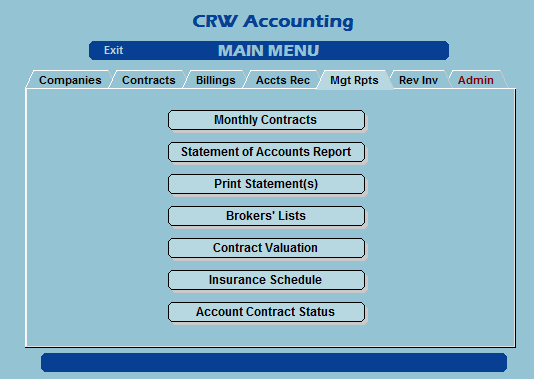 Shipping Broker management reports tab